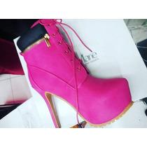 Botas Mujer Tacon Rosa Moda Invierno Tim