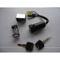 Chave Ignição Pop 100 Kit Completo Trava Banco E Guidão