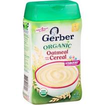 Gerber Orgánica De Cereales De Grano Entero De Avena 8 Oz