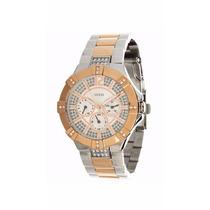 Relógio Feminino Guess W0024l1 Pulseira De Aço-frete Grátis