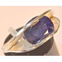 Rsp J4811 Anel Ayan Prata 950 Safira Azul
