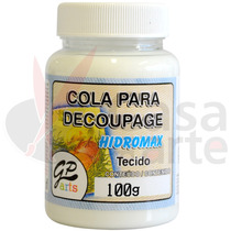 Cola Para Decoupage Hidromax Tecido Gato Preto 250 Ml