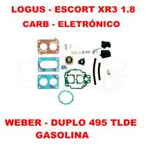 Kit Reparo Carburador Logus/escort Gas Weber Duplo 495 Tlde