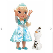 Boneca Frozen Princesa Elsa Cantora Neve Brilhante De Luxo