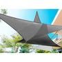 Toldos Vela Para Sombra Desmontables - Triángulo 3x4x5 Plata