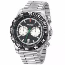 Relógio Masculino Magnum Esportivo Prata Com Preto - Ma3410