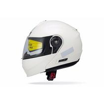 Capacete Branco Perola Beta Series Lp01 Articulador 60