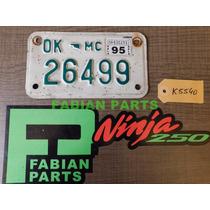 Chapa Patente Moto Antigua Original Usa Oklahoma K5540