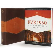 Biblia De Estudio Holman Simil Piel Con Indice Rvr 1960