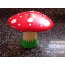Cogumelo De Cerâmica Enfeite De Jardim Ou Casa 14 Cm Altura