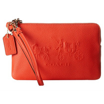 Cartera Coach Embossed Horse And Carriage Small L-zip Wris