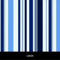 Papel De Parede Clássico Listrado Azul Autocolante, Lavável