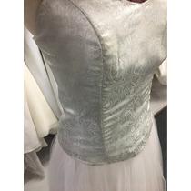 Vestido De 15 Años Blanco Y Plateado Vestido Largo De Tul