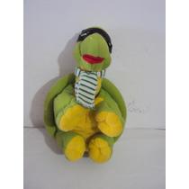 Boneco De Pelúcia - Tartaruga Verde Com Mascará Tam.38 Cm P2