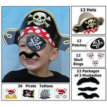 Vestido De Pirata 12 Partido Favor Pack (12 Sombreros De Pi
