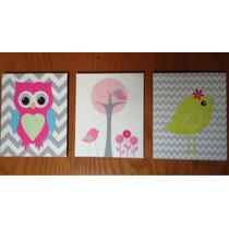 Cuadros Decorativos Para Niños Y Niñas , Paquete De 3 Cuadro