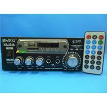 Amplificador Ma005a 70w Rms 110v + Controle Remoto Mp3