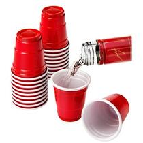 Vasos Shots Plástico Rojos Fiesta Bar Tequileros Desechables