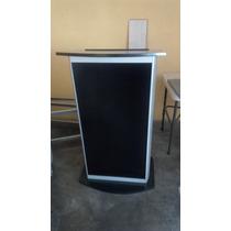 Podium Atril Pulpito Aluminio Madera