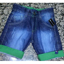 2 Bermudas Jeans Infantil