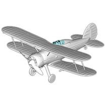 Modelo D/avión 1:72 Raf Gladiador Jet Hobbyboss Plástico