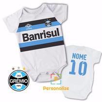 Body Infantil Personalizado Camisa Do Grêmio Com Nome