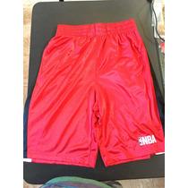 Short Basketball Nba Basquetbol Rojo Con Blanco Y Negro