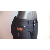 Bellos Pantalones Jeans Negro Dama Studio F Talla 10 Y 12.