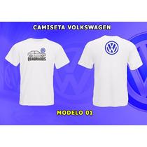 Camisa Bordado Volkswagen Gol, Fusca, Kombi (quadrados,vw)
