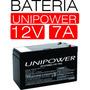 Bateria 12v 7a Selada Unipower Nobreak Alarme Cerca Eletrica