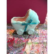 Recuerdito Baby Shower Nacimiento Del Bebe Coche De Ceramica