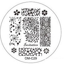 Placa Para Decoración De Uñas Con Sello Om-c29