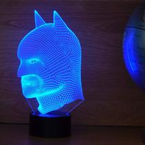 Lámpara Led Rgb 3d Acrílico Dc Comics Batman Video