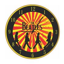 Relógio De Parede - Beatles - Vintage - Rústico - Retrô