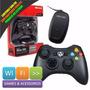 Controle Xbox 360 Sem Fio Com Adaptador Para Pc Microsoft