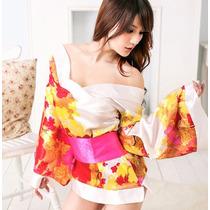 Kimono Estampado, Bata Babydoll, Lencería, Ropa Sexy.