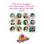 12 Etiquetas Calcomanias Stickers Soy Luna Cuaderno Escolar