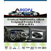 Central Multimídia Original Honda Civic 2012 A 2014