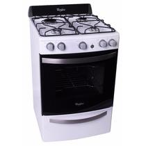 Cocina Whirlpool Wfb56db 56cm Blanca Parrilla Luz Timer Enc