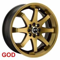 Roda K59 17x7,0 4x100/108 Gold/ Prata Gol Palio Celta Onix