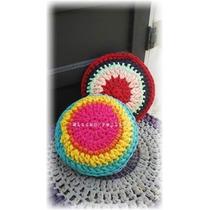 Almohadones Crochet Totora. 40 Cm De Diametro