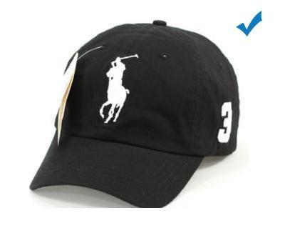50e29ff7214cd Boné Polo Ralph Lauren Aba Preto Logo Branco Bonés Masculino - R  35 ...
