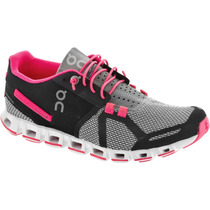 Tenis On Cloud Grey/pink Neon Mujer Correr Original Triatlon