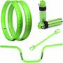 Par Aro Viper Street + Acessorios Verde Neon Cg 125 Fan