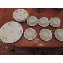 Antigo Jogo Chá Bolo Café Da Manhã Porcelana Japonesa 19 Pçs