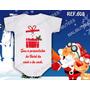 Body Infantil Meu Primeiro Natal Bebê Papai Noel Ano Novo
