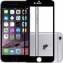 Película Vidro Temperado Preta Iphone 6 Plus Anti Queda