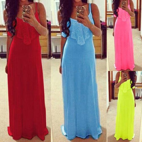 Modelos de vestidos largos casuales de algodon