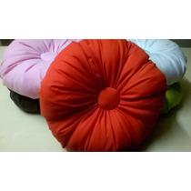 Almohadon Redondo De 35cm Excelente Calidad Varios Colores