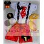Disfraz Mickey Mouse Bebe El Mas Completo Con Accesorios!!